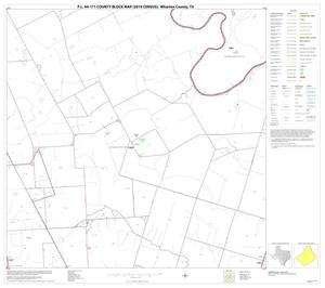 Primary view of object titled 'P.L. 94-171 County Block Map (2010 Census): Wharton County, Block 15'.