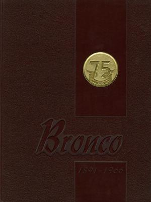 Primary view of object titled 'The Bronco, Yearbook of Hardin-Simmons University, 1966'.