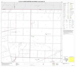 Primary view of object titled 'P.L. 94-171 County Block Map (2010 Census): Jones County, Block 2'.