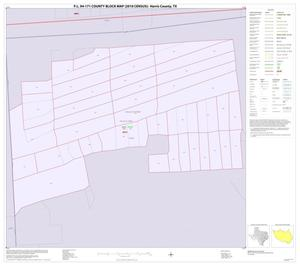 Primary view of object titled 'P.L. 94-171 County Block Map (2010 Census): Harris County, Inset D01'.