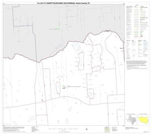 Primary view of object titled 'P.L. 94-171 County Block Map (2010 Census): Harris County, Block 25'.