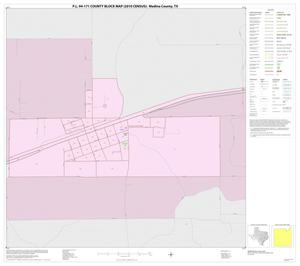 Primary view of object titled 'P.L. 94-171 County Block Map (2010 Census): Medina County, Inset E01'.