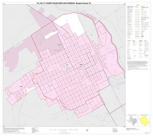 Primary view of object titled 'P.L. 94-171 County Block Map (2010 Census): Bosque County, Inset J01'.