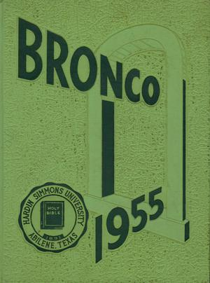 Primary view of object titled 'The Bronco, Yearbook of Hardin-Simmons University, 1955'.