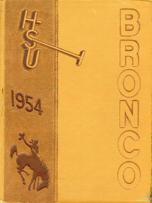 Primary view of object titled 'The Bronco, Yearbook of Hardin-Simmons University, 1954'.
