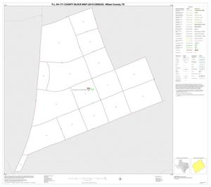 Primary view of object titled 'P.L. 94-171 County Block Map (2010 Census): Milam County, Inset F01'.