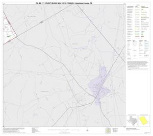 Primary view of object titled 'P.L. 94-171 County Block Map (2010 Census): Limestone County, Block 20'.