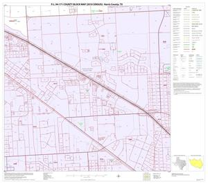 Primary view of object titled 'P.L. 94-171 County Block Map (2010 Census): Harris County, Block 153'.