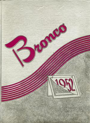 Primary view of object titled 'The Bronco, Yearbook of Hardin-Simmons University, 1952'.
