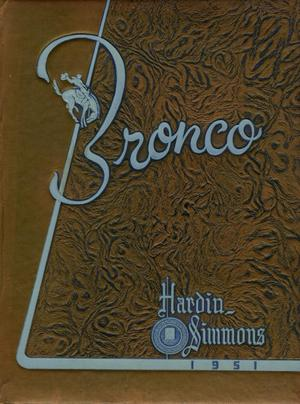 Primary view of object titled 'The Bronco, Yearbook of Hardin-Simmons University, 1951'.