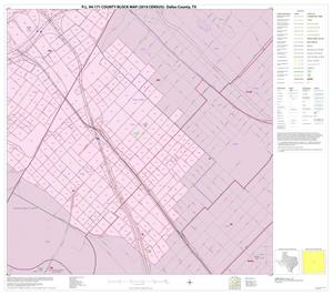 Primary view of object titled 'P.L. 94-171 County Block Map (2010 Census): Dallas County, Inset I04'.
