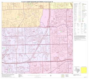 Primary view of object titled 'P.L. 94-171 County Block Map (2010 Census): Tarrant County, Block 23'.