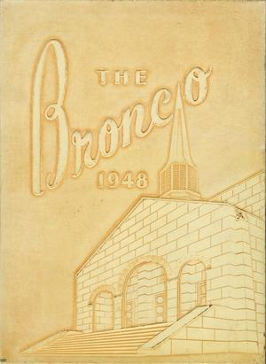 Primary view of object titled 'The Bronco, Yearbook of Hardin-Simmons University, 1948'.