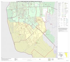 Primary view of object titled 'P.L. 94-171 County Block Map (2010 Census): Maverick County, Inset C02'.