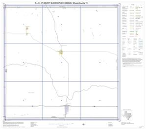 Primary view of object titled 'P.L. 94-171 County Block Map (2010 Census): Wheeler County, Index'.