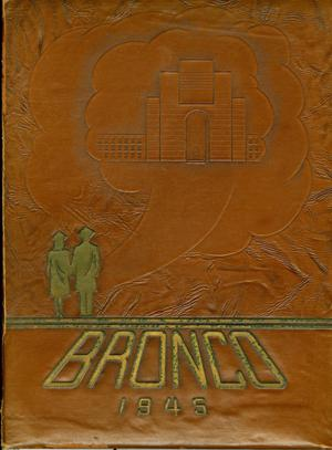 Primary view of object titled 'The Bronco, Yearbook of Hardin-Simmons University, 1945'.