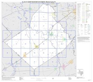 P.L. 94-171 County Block Map (2010 Census): Wharton County, Index
