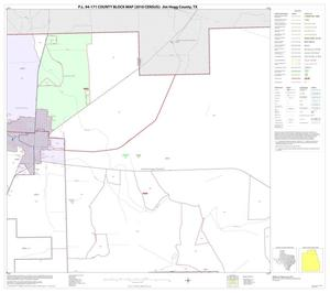 Primary view of object titled 'P.L. 94-171 County Block Map (2010 Census): Jim Hogg County, Block 3'.