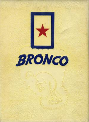 Primary view of object titled 'The Bronco, Yearbook of Hardin-Simmons University, 1944'.