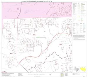 Primary view of object titled 'P.L. 94-171 County Block Map (2010 Census): Harris County, Block 13'.