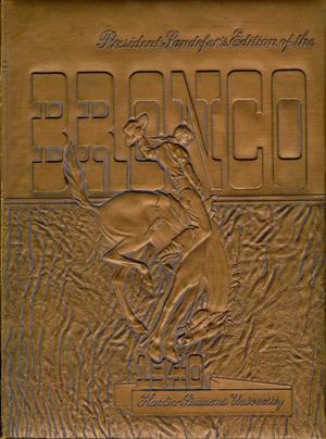 Primary view of object titled 'The Bronco, Yearbook of Hardin-Simmons University, 1940'.