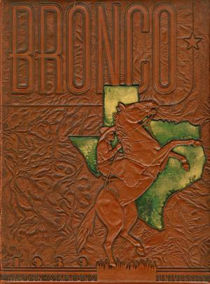 The Bronco, Yearbook of Hardin-Simmons University, 1939