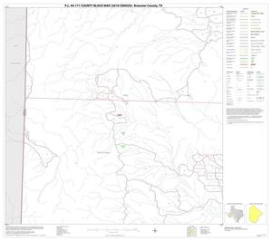 Primary view of object titled 'P.L. 94-171 County Block Map (2010 Census): Brewster County, Block 73'.
