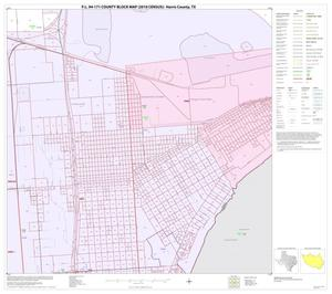 Primary view of object titled 'P.L. 94-171 County Block Map (2010 Census): Harris County, Block 244'.