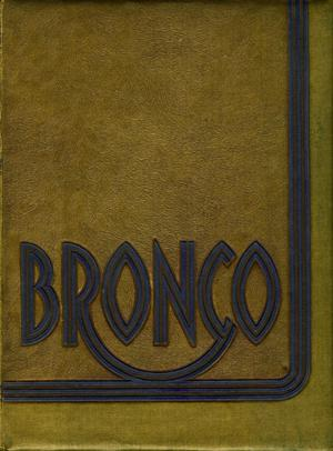 Primary view of object titled 'The Bronco, Yearbook of Hardin-Simmons University, 1938'.