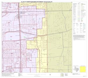 Primary view of object titled 'P.L. 94-171 County Block Map (2010 Census): Tarrant County, Block 40'.