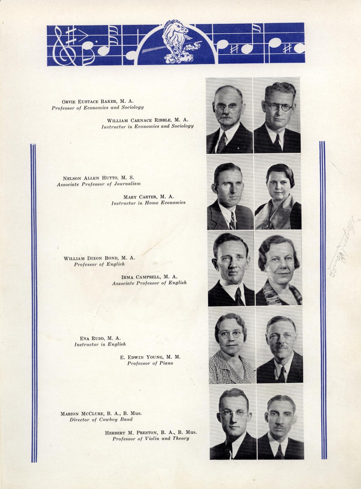 The Bronco, Yearbook of Hardin-Simmons University, 1935                                                                                                      27