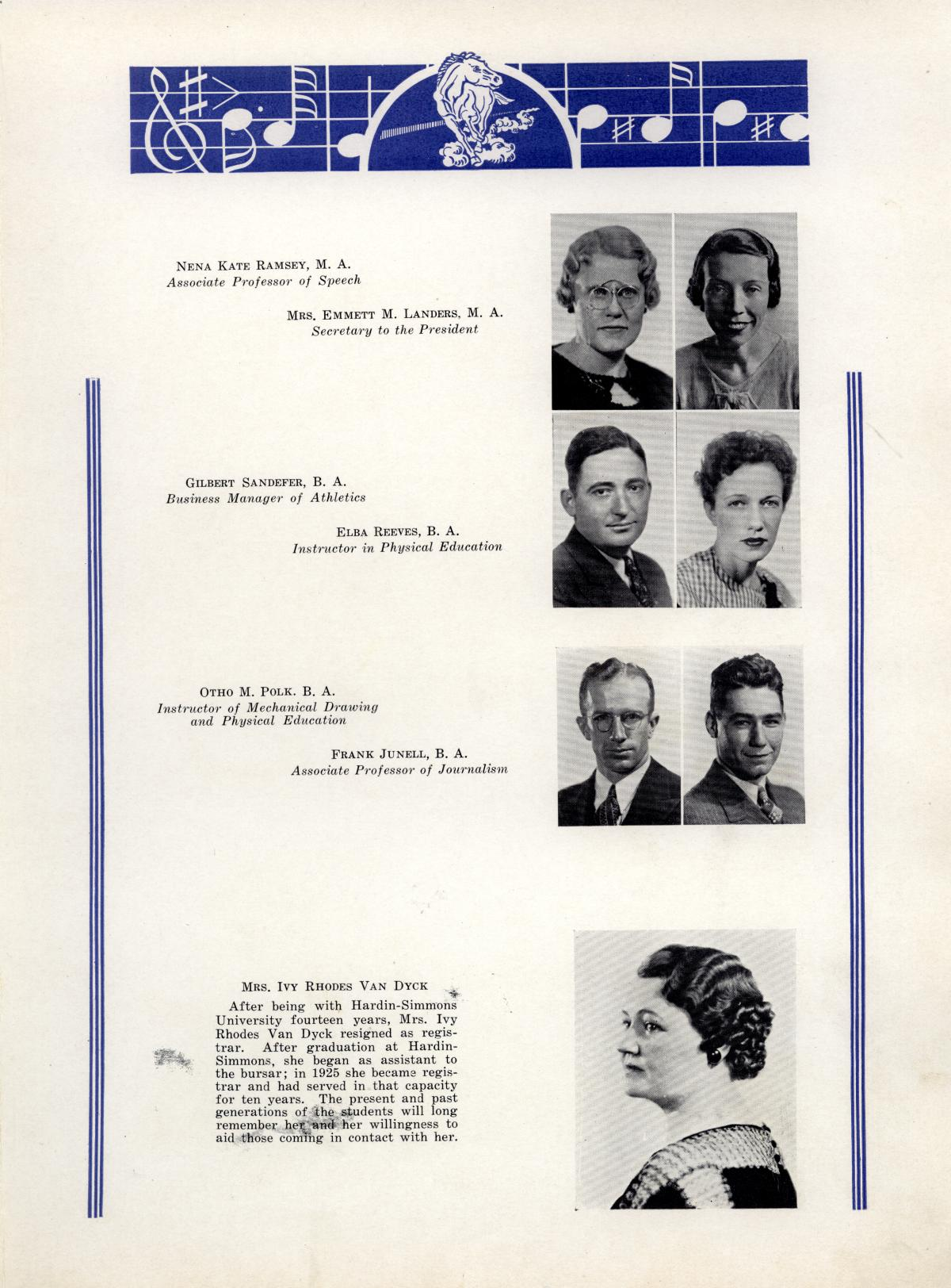 The Bronco, Yearbook of Hardin-Simmons University, 1935                                                                                                      29