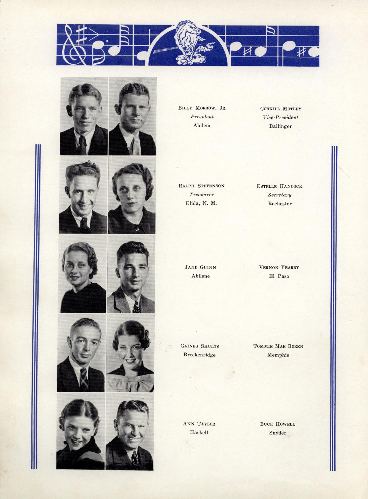 The Bronco, Yearbook of Hardin-Simmons University, 1935                                                                                                      44