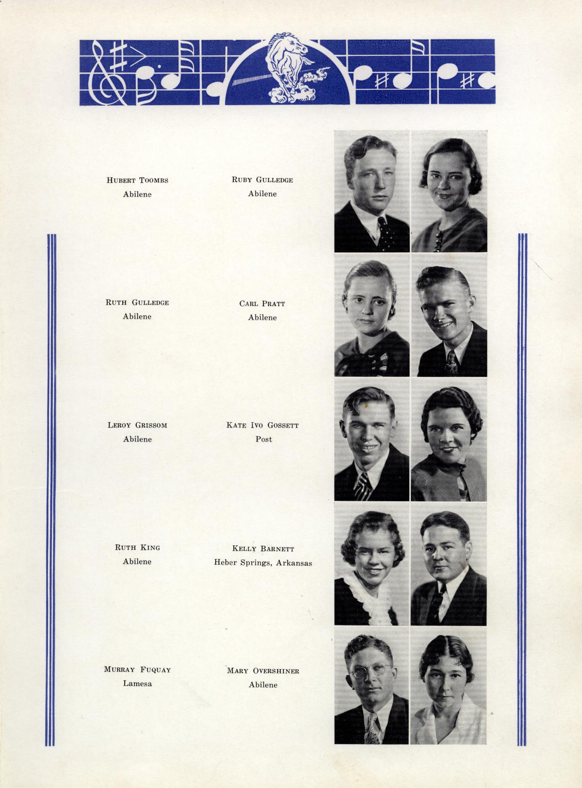 The Bronco, Yearbook of Hardin-Simmons University, 1935                                                                                                      47