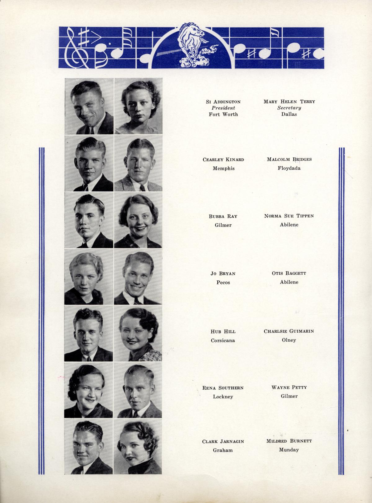 The Bronco, Yearbook of Hardin-Simmons University, 1935                                                                                                      52