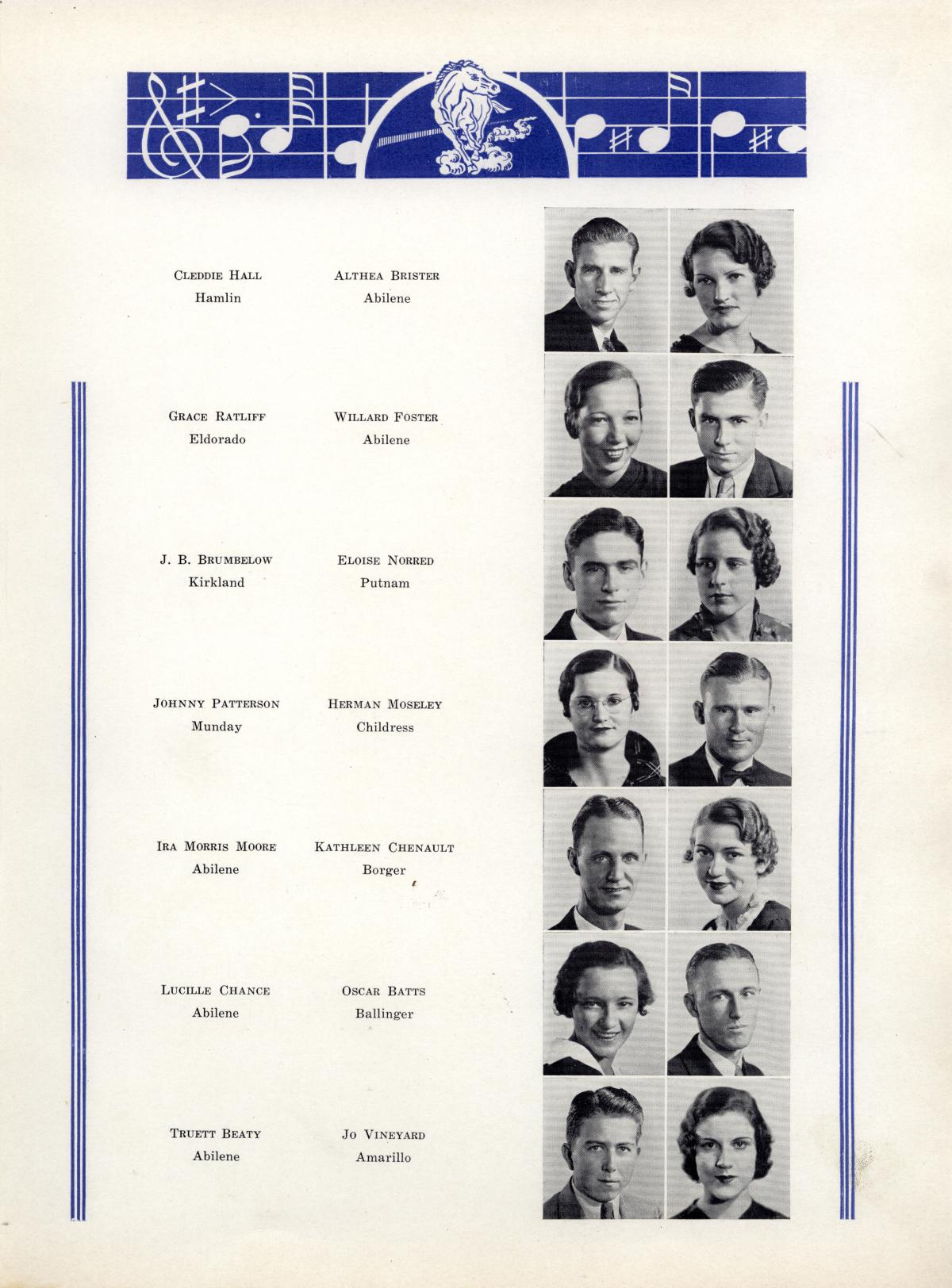 The Bronco, Yearbook of Hardin-Simmons University, 1935                                                                                                      53