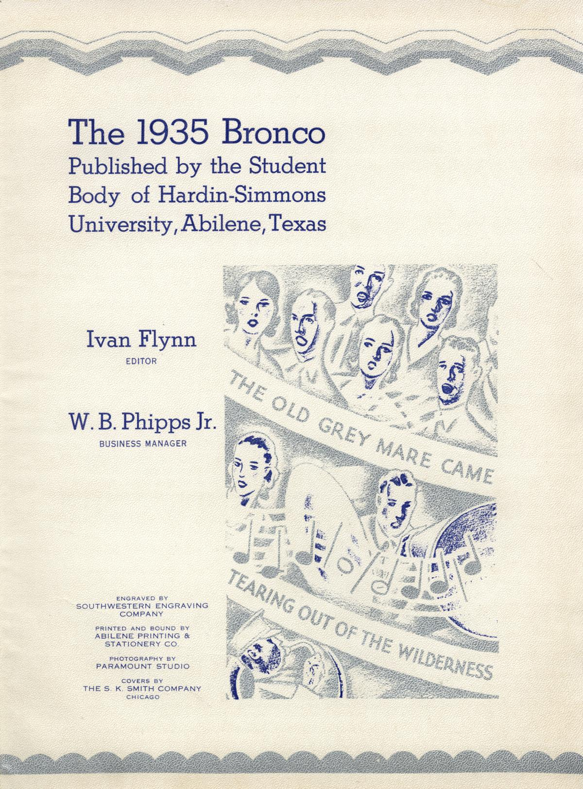 The Bronco, Yearbook of Hardin-Simmons University, 1935                                                                                                      3