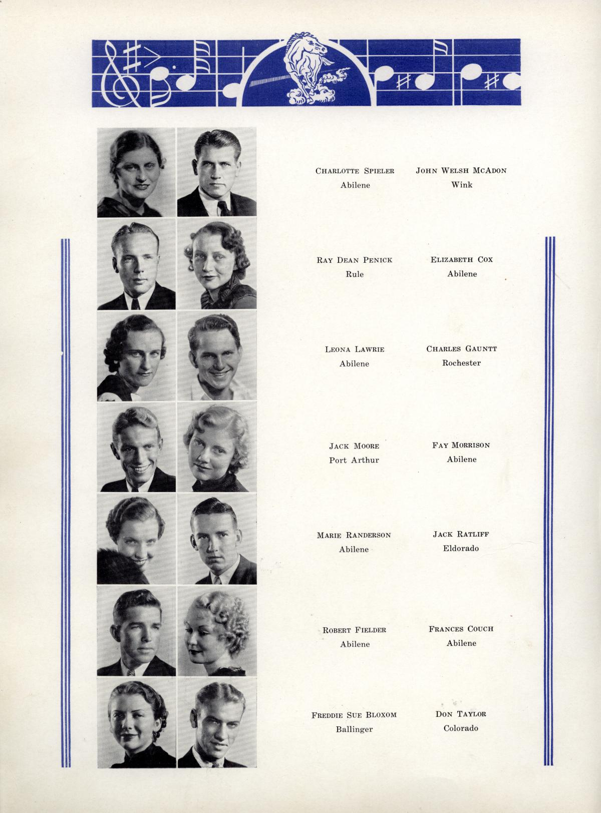The Bronco, Yearbook of Hardin-Simmons University, 1935                                                                                                      56