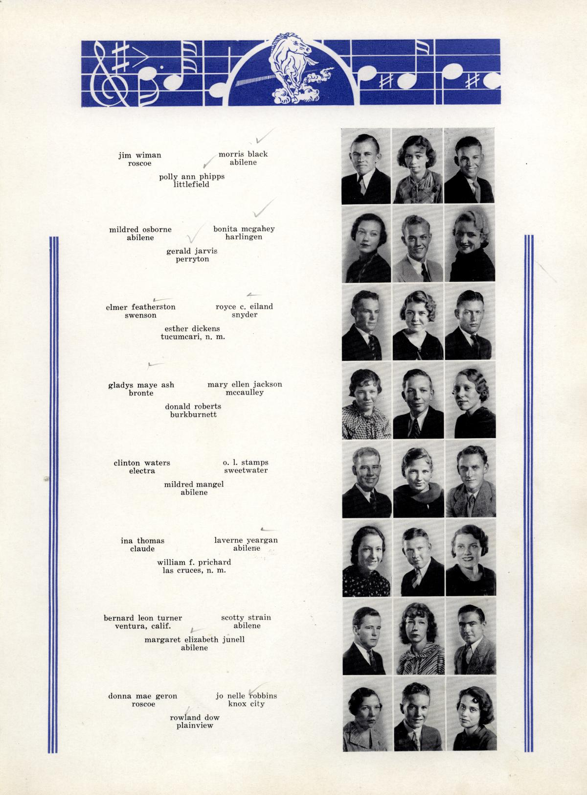 The Bronco, Yearbook of Hardin-Simmons University, 1935                                                                                                      63