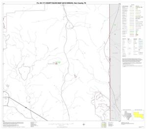 Primary view of object titled 'P.L. 94-171 County Block Map (2010 Census): Kerr County, Block 21'.