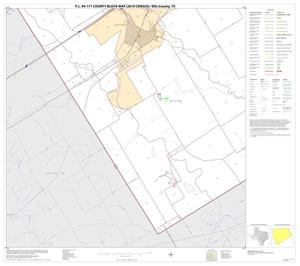 Primary view of object titled 'P.L. 94-171 County Block Map (2010 Census): Ellis County, Block 34'.