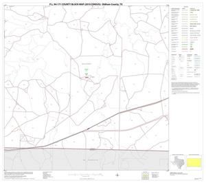 Primary view of object titled 'P.L. 94-171 County Block Map (2010 Census): Oldham County, Block 19'.