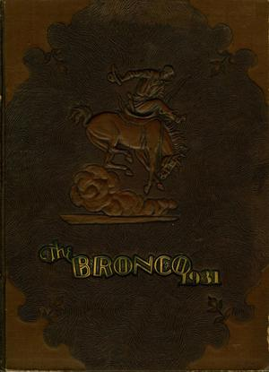 The Bronco, Yearbook of Simmons University, 1931