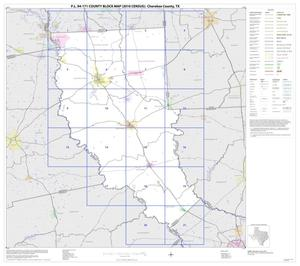 Primary view of object titled 'P.L. 94-171 County Block Map (2010 Census): Cherokee County, Index'.