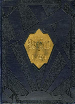 Primary view of object titled 'The Bronco, Yearbook of Simmons University, 1929'.