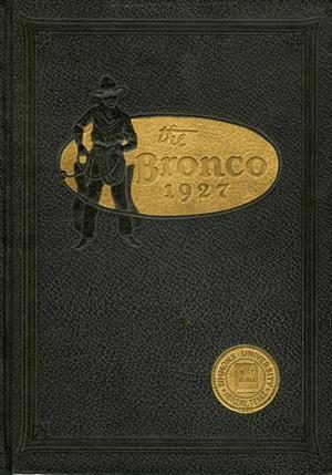 Primary view of object titled 'The Bronco, Yearbook of Simmons University, 1927'.