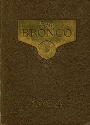 Primary view of object titled 'The Bronco, Yearbook of Simmons College, 1924'.