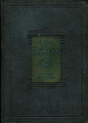 Primary view of object titled 'The Bronco, Yearbook of Simmons College, 1923'.
