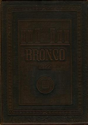 Primary view of object titled 'The Bronco, Yearbook of Simmons College, 1922'.