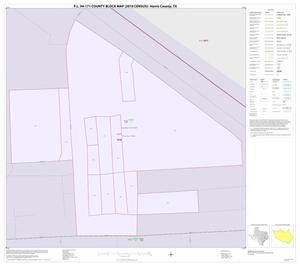 Primary view of object titled 'P.L. 94-171 County Block Map (2010 Census): Harris County, Inset G01'.